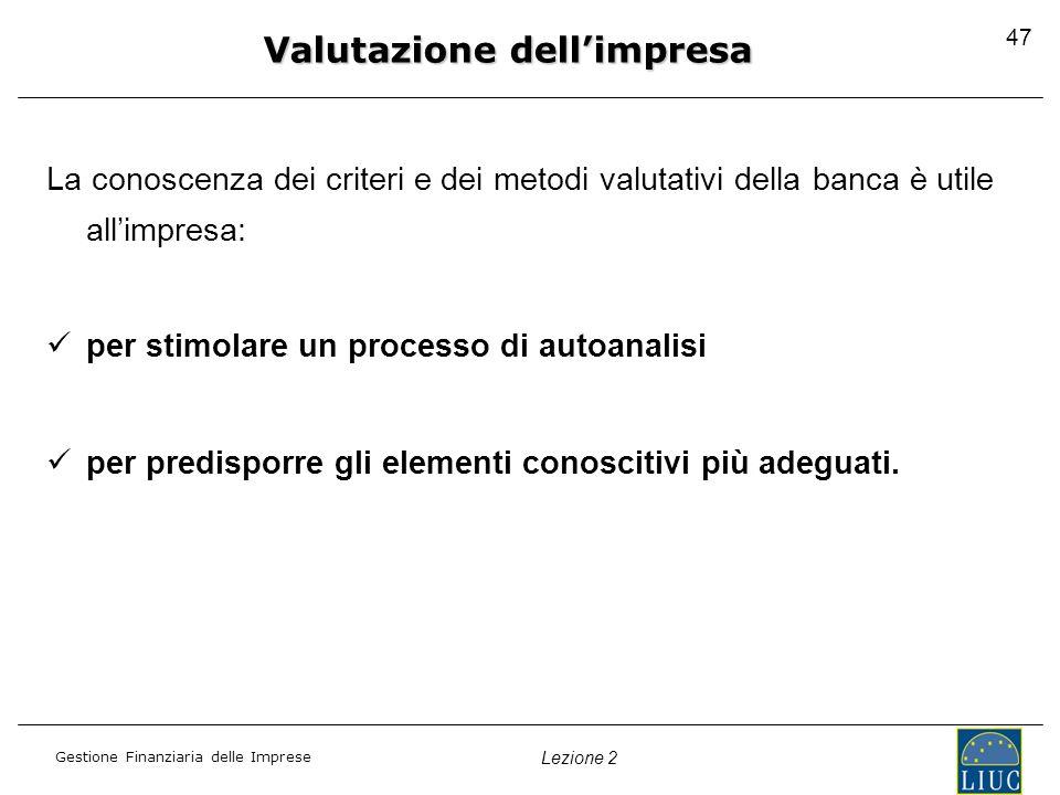 Valutazione dell'impresa