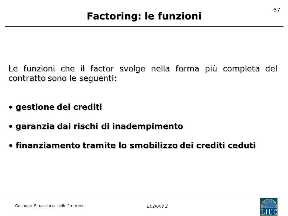 Factoring: le funzioni
