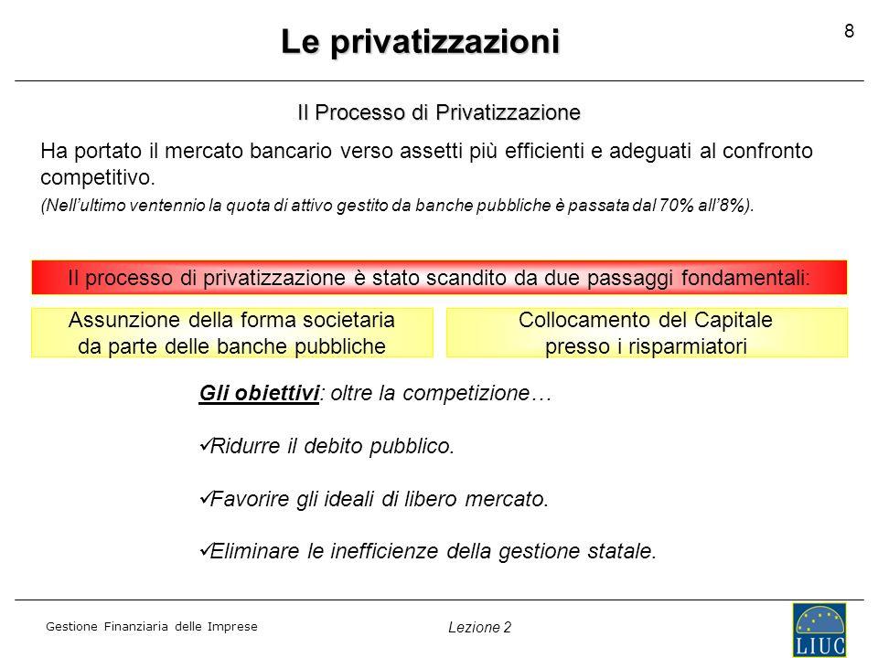 Le privatizzazioni Il Processo di Privatizzazione