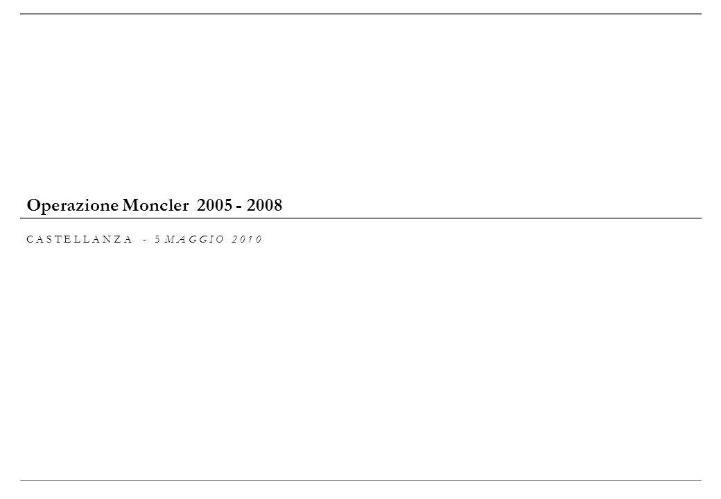 Operazione Moncler 2005 - 2008 C A S T E L L A N Z A - 5 M A G G I O 2 0 1 0