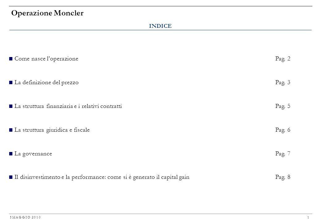 Operazione Moncler Come nasce l'operazione Pag. 2