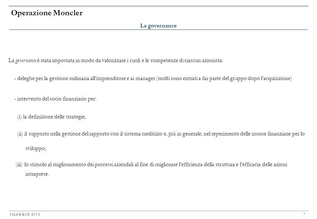 Operazione Moncler La governance