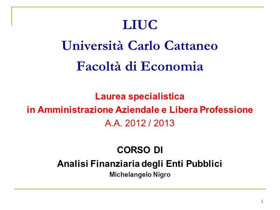 LIUC Università Carlo Cattaneo Facoltà di Economia