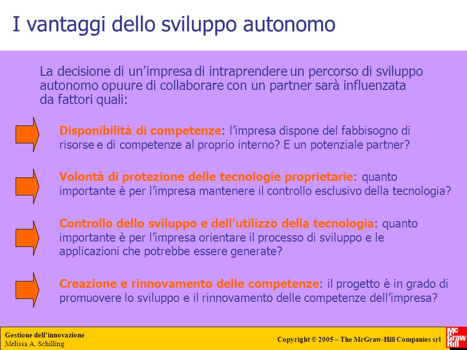 I vantaggi dello sviluppo autonomo