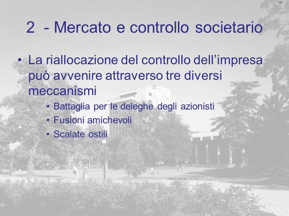 2 - Mercato e controllo societario