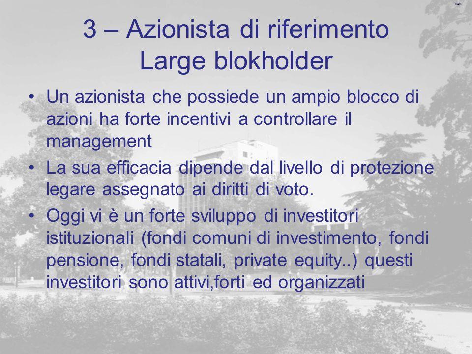 3 – Azionista di riferimento Large blokholder