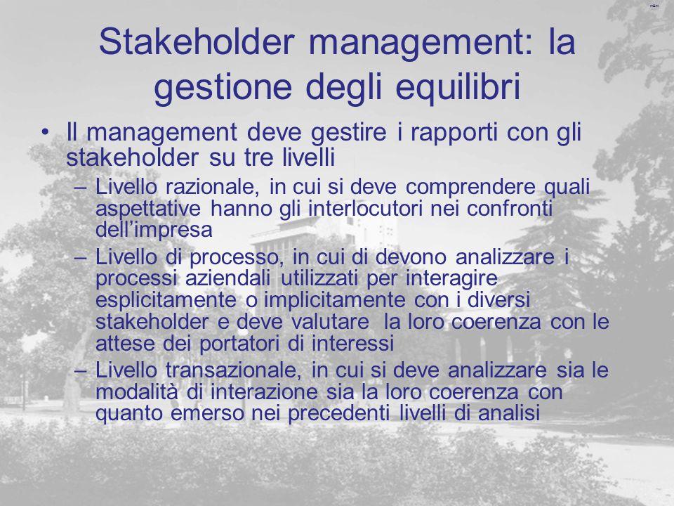 Stakeholder management: la gestione degli equilibri