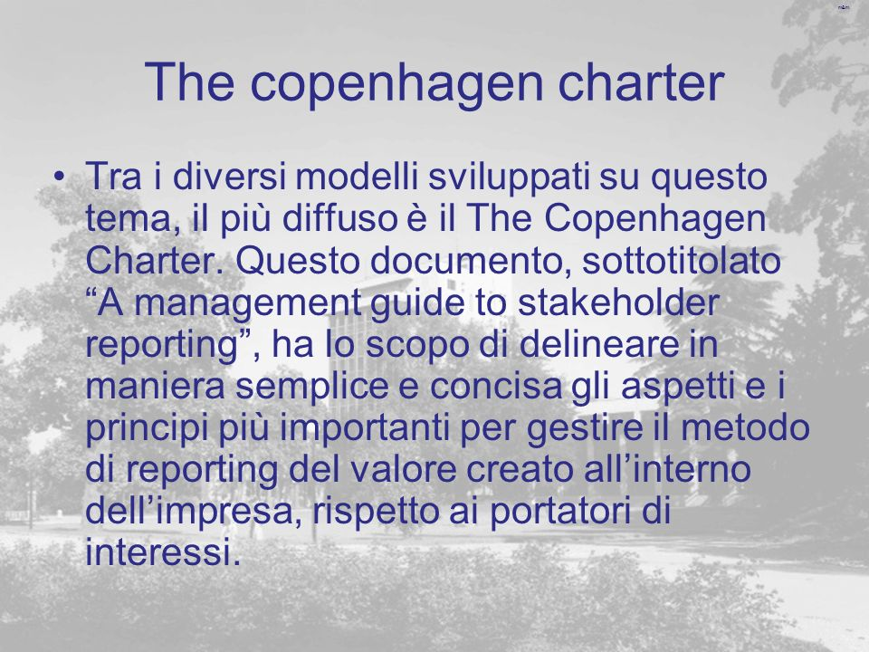 The copenhagen charter