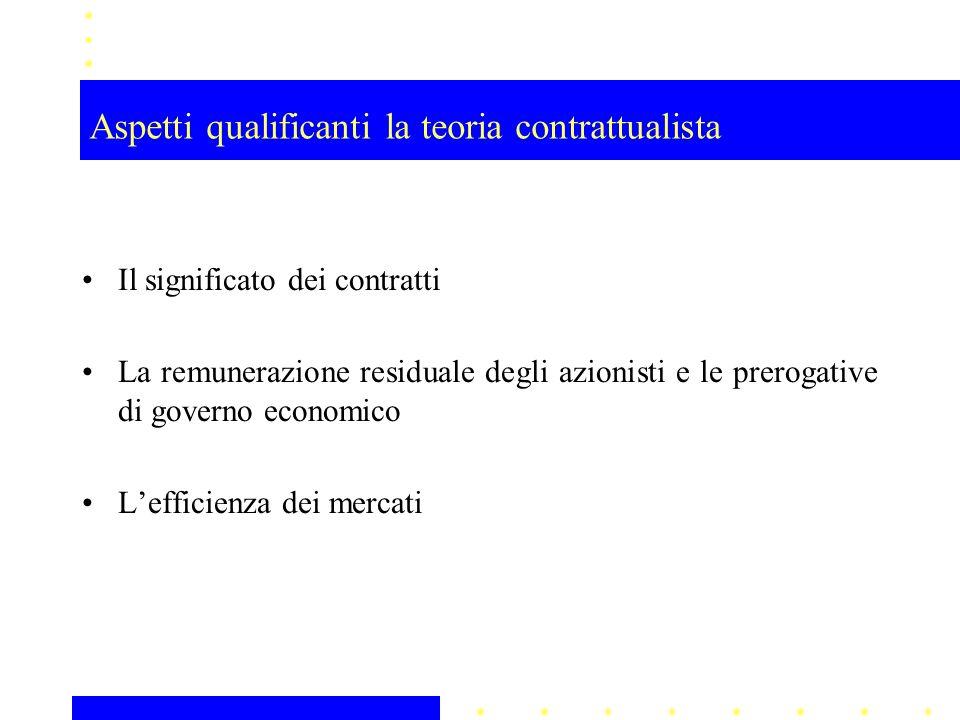 Aspetti qualificanti la teoria contrattualista