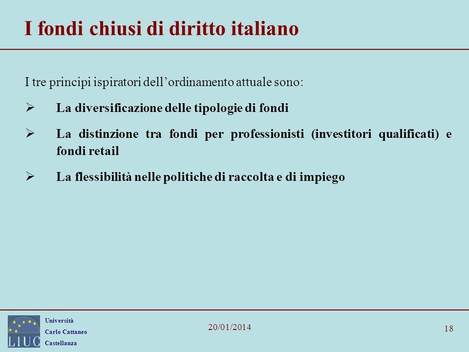 I fondi chiusi di diritto italiano