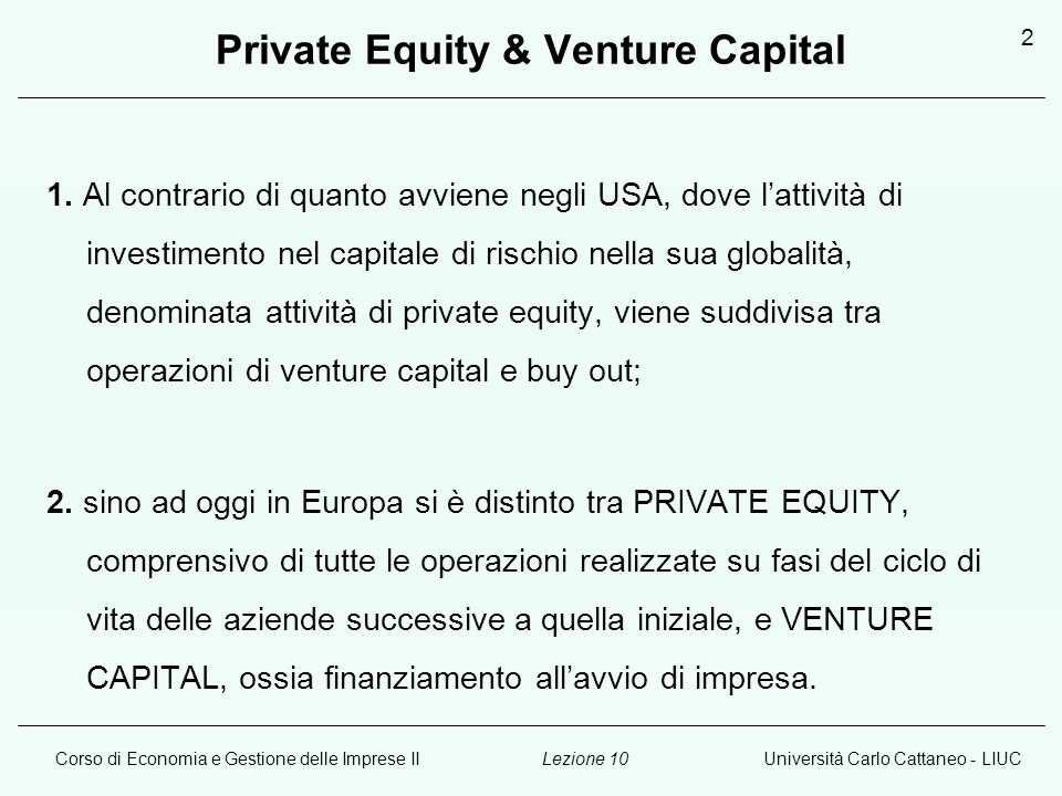 Private Equity & Venture Capital