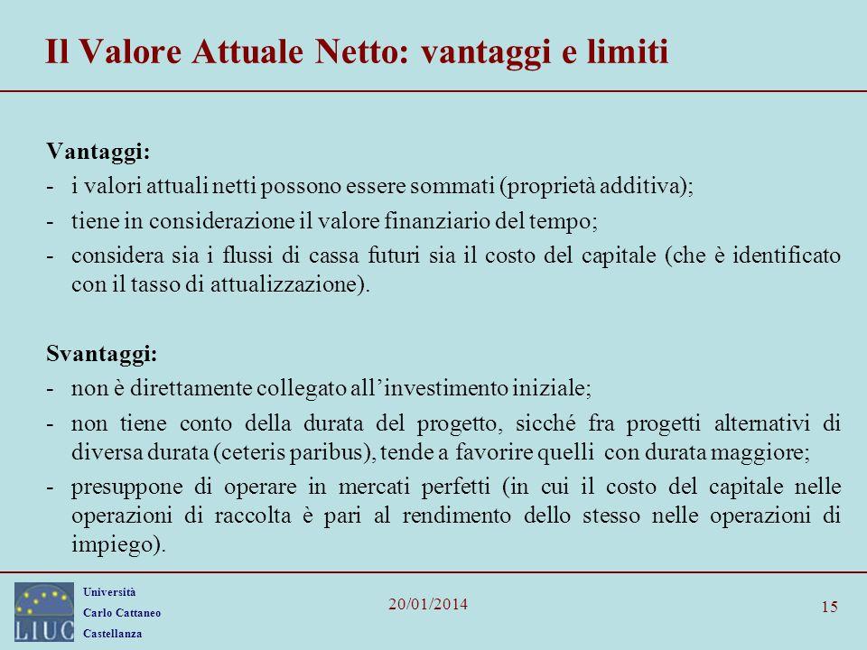 Il Valore Attuale Netto: vantaggi e limiti