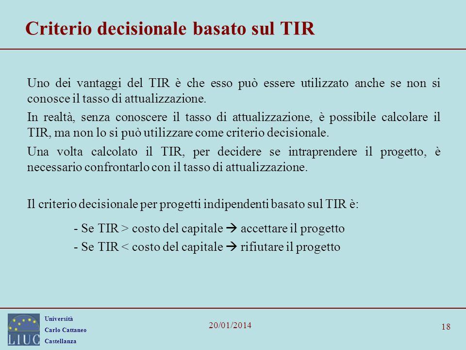 Criterio decisionale basato sul TIR