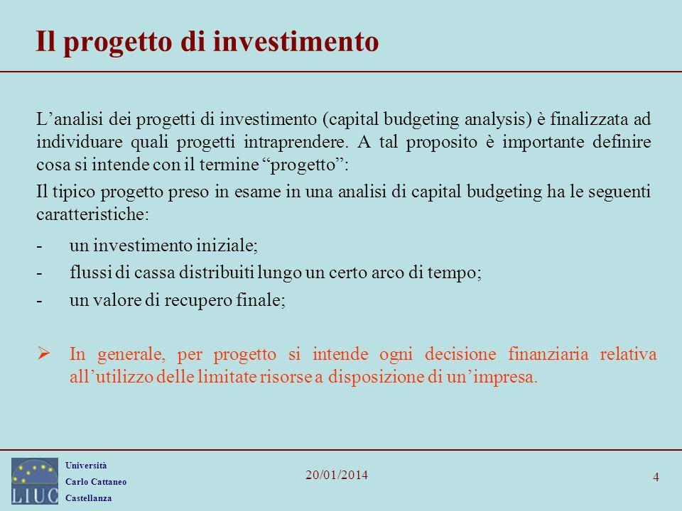 Il progetto di investimento