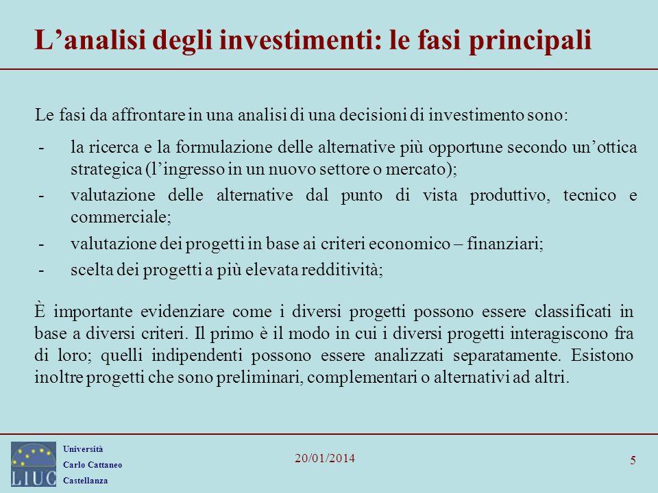 L'analisi degli investimenti: le fasi principali