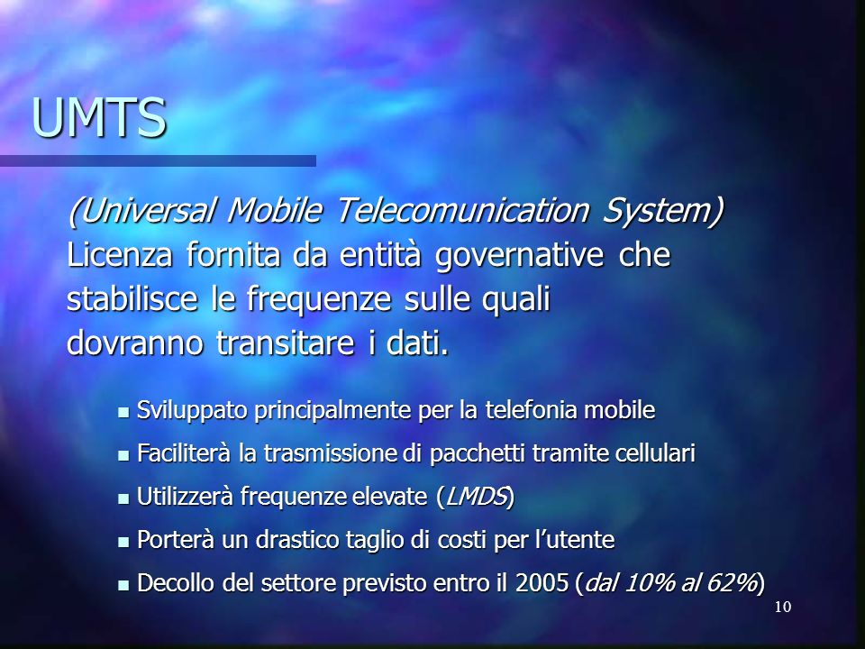 UMTS (Universal Mobile Telecomunication System)