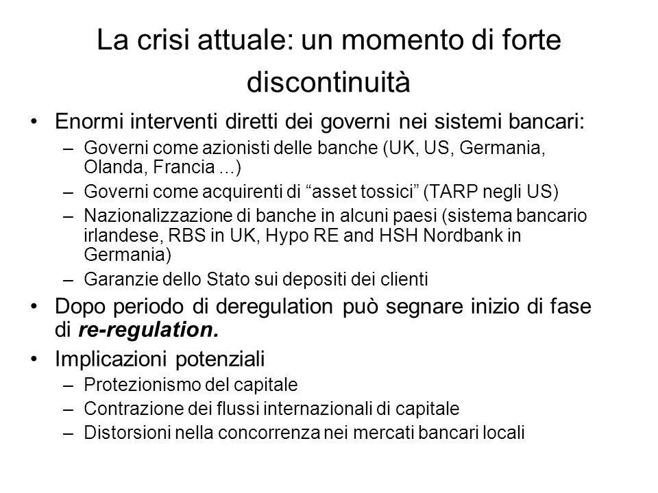 La crisi attuale: un momento di forte discontinuità