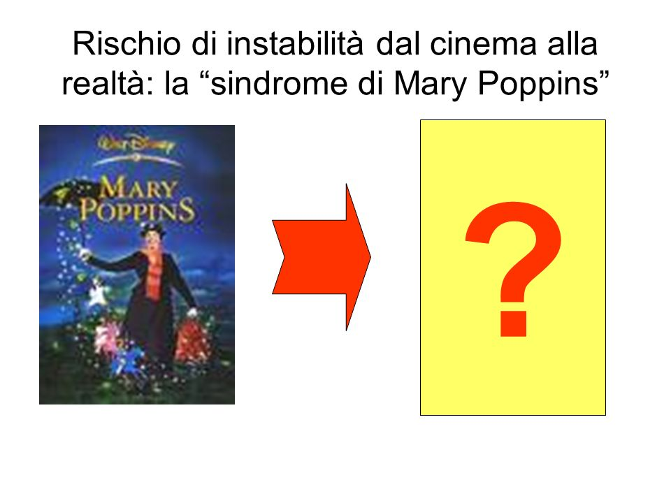 Rischio di instabilità dal cinema alla realtà: la sindrome di Mary Poppins