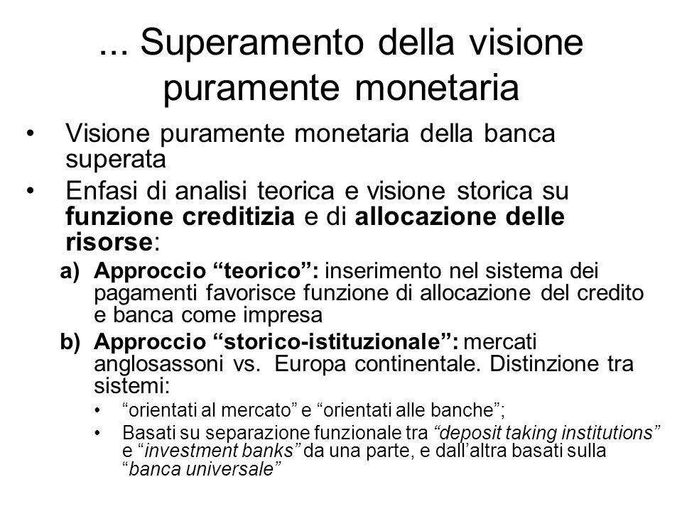 ... Superamento della visione puramente monetaria