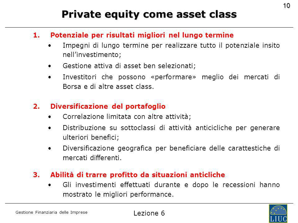 Private equity come asset class