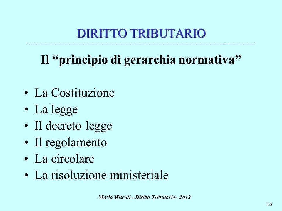 Il principio di gerarchia normativa