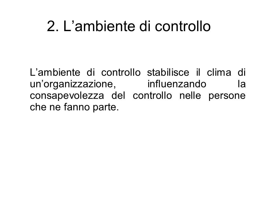2. L'ambiente di controllo
