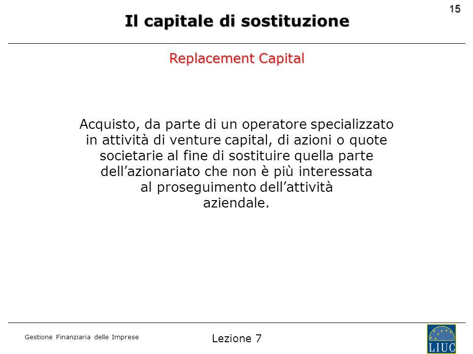 Il capitale di sostituzione