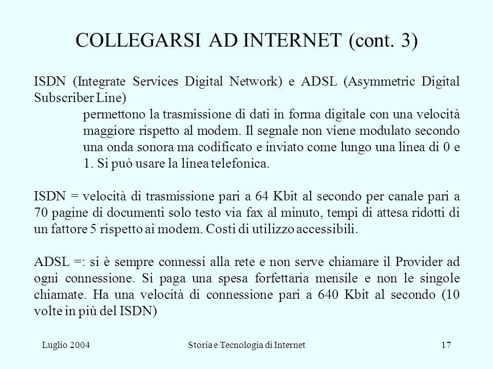 COLLEGARSI AD INTERNET (cont. 3)