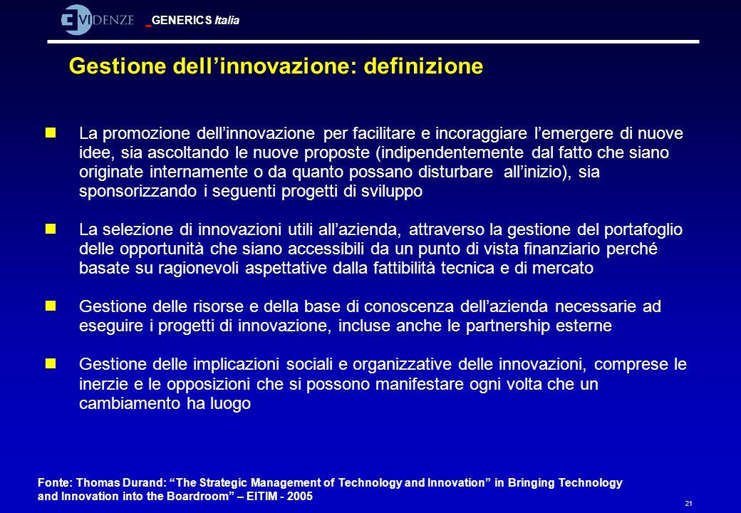Gestione dell'innovazione: definizione