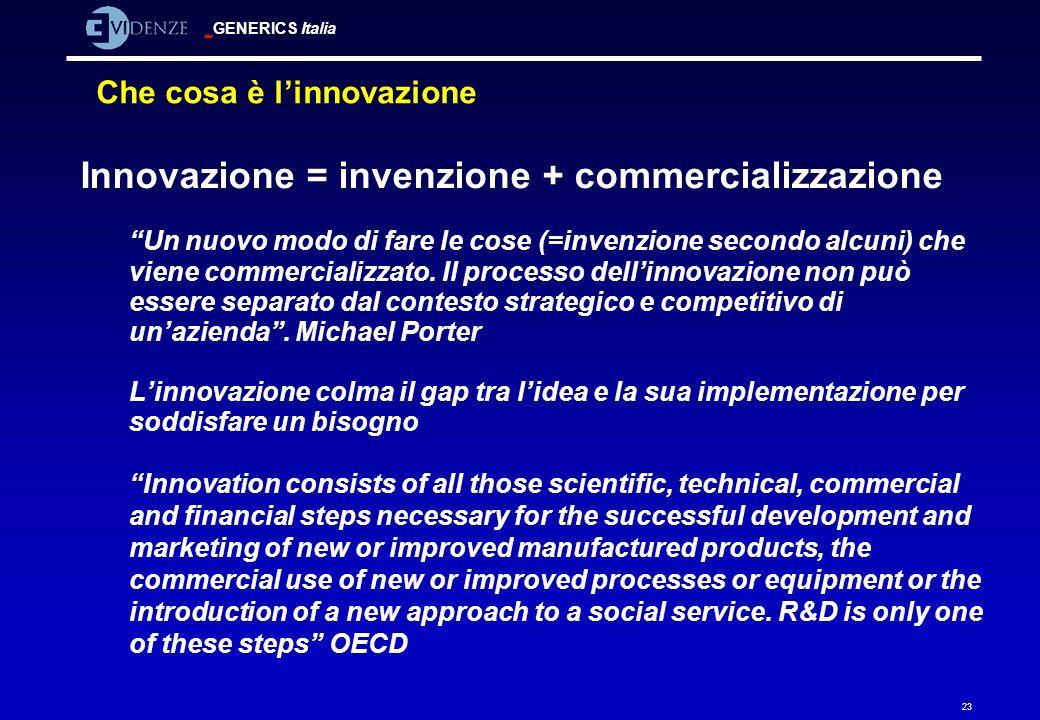 Che cosa è l'innovazione
