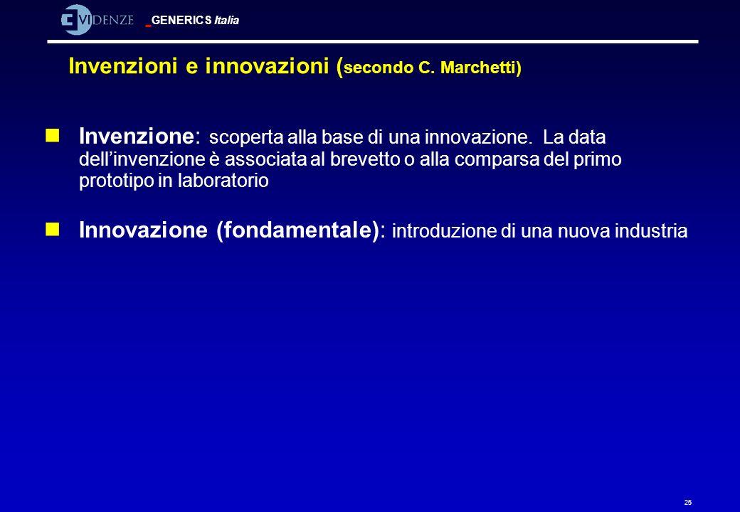 Invenzioni e innovazioni (secondo C. Marchetti)