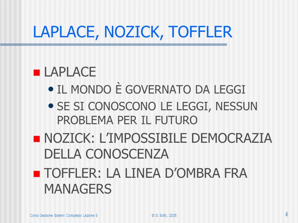 LAPLACE, NOZICK, TOFFLER