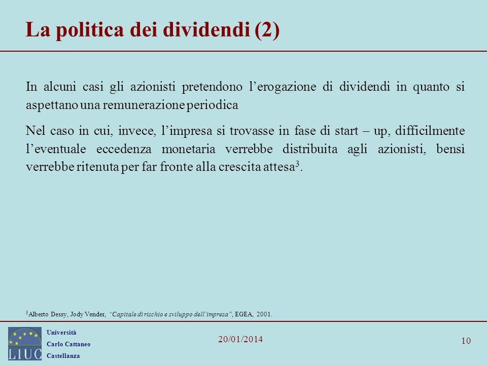 La politica dei dividendi (2)