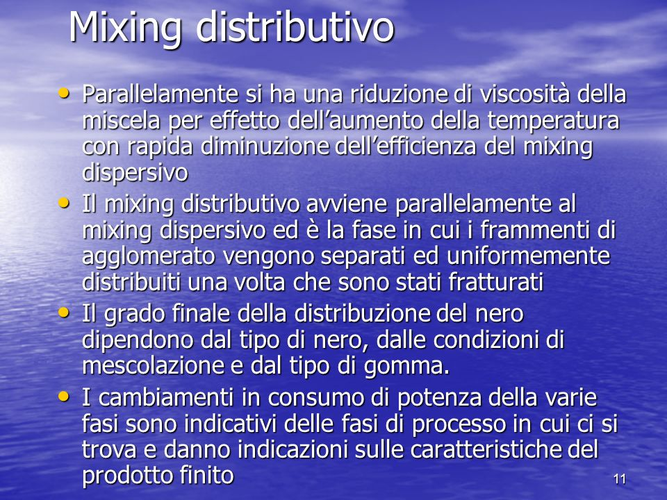 Mixing distributivo