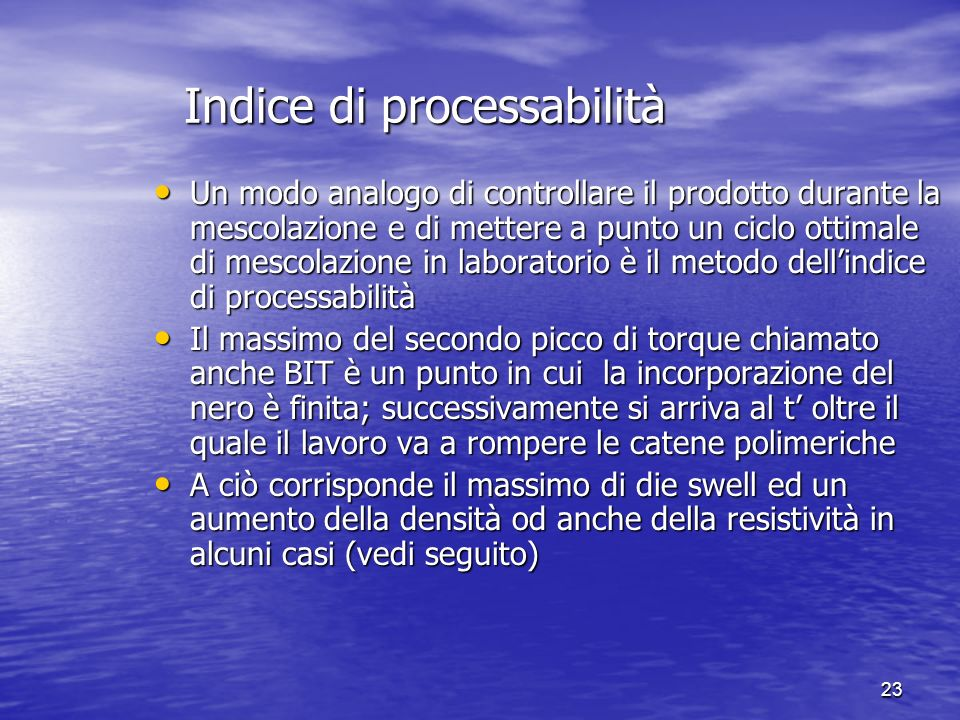 Indice di processabilità