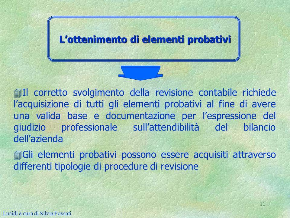 L'ottenimento di elementi probativi