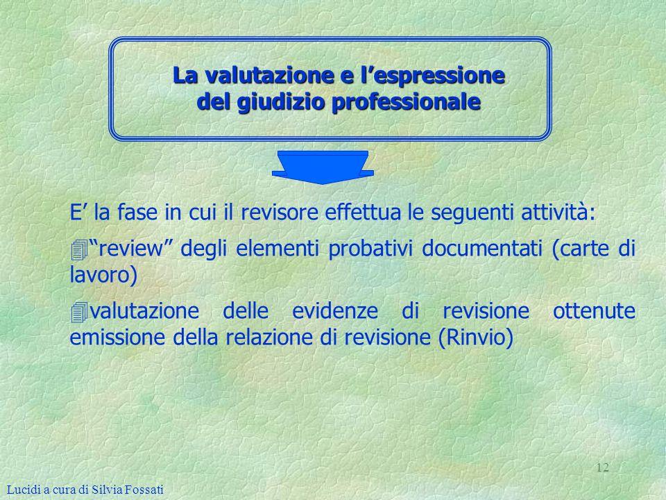 La valutazione e l'espressione del giudizio professionale