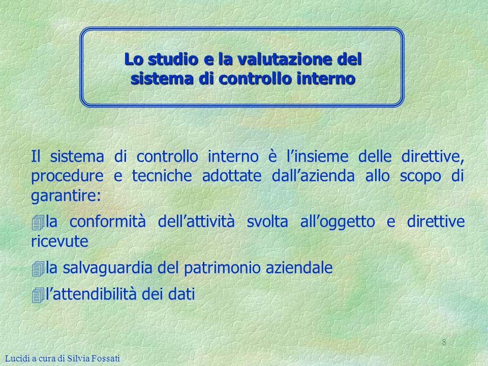 Lo studio e la valutazione del sistema di controllo interno