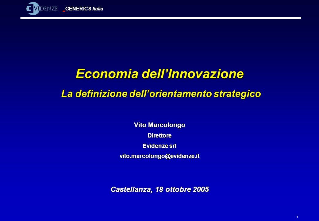Economia dell'Innovazione La definizione dell'orientamento strategico