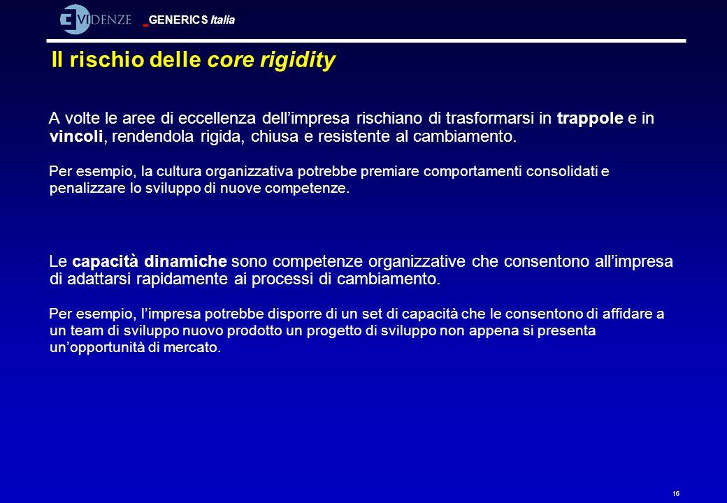 Il rischio delle core rigidity
