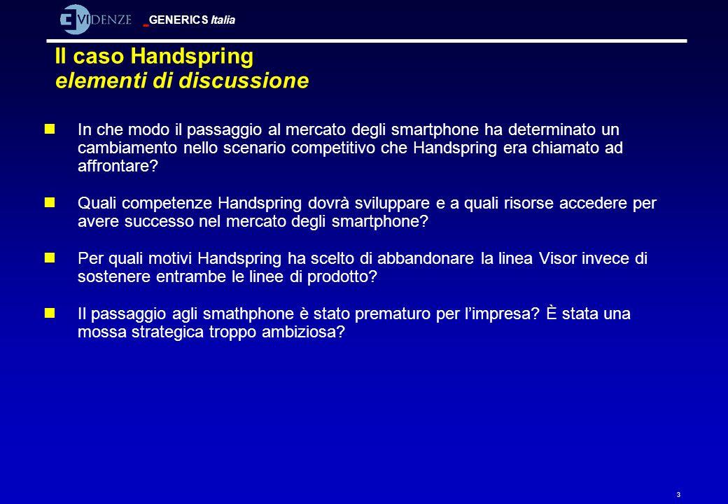 Il caso Handspring elementi di discussione