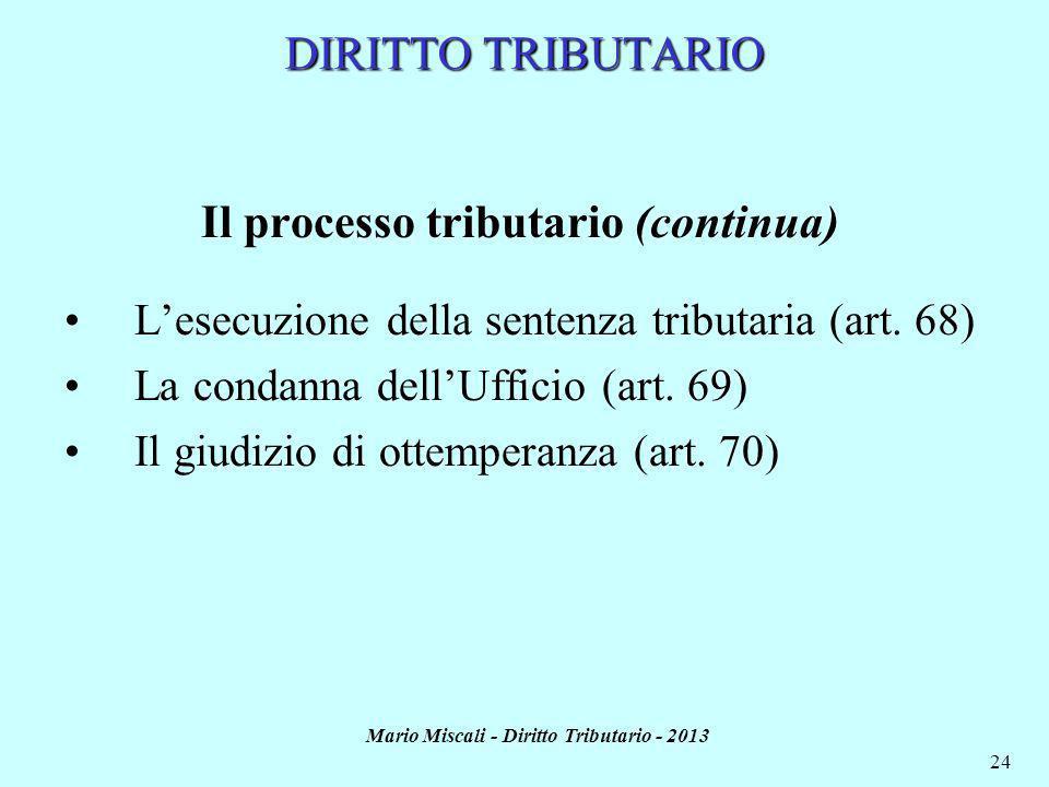 Il processo tributario (continua)