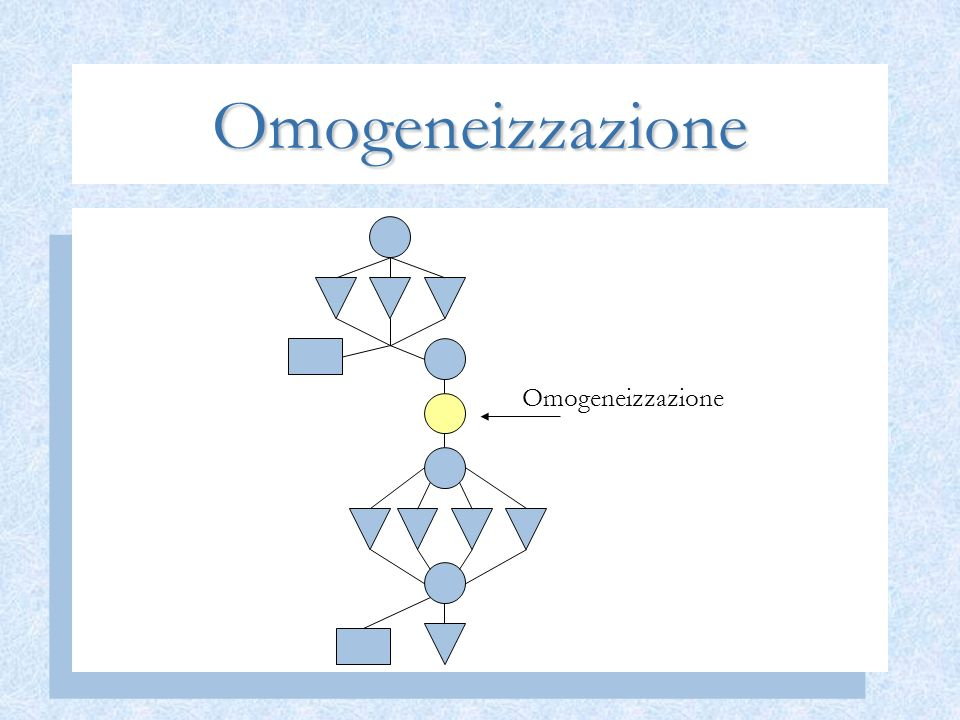 Omogeneizzazione Omogeneizzazione
