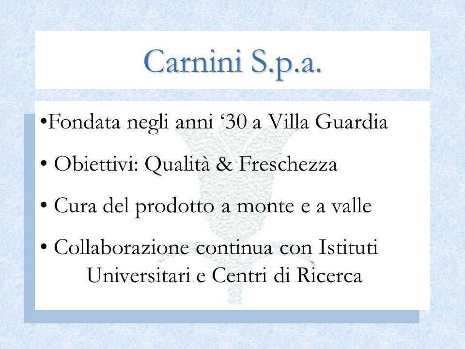 Carnini S.p.a. Fondata negli anni '30 a Villa Guardia