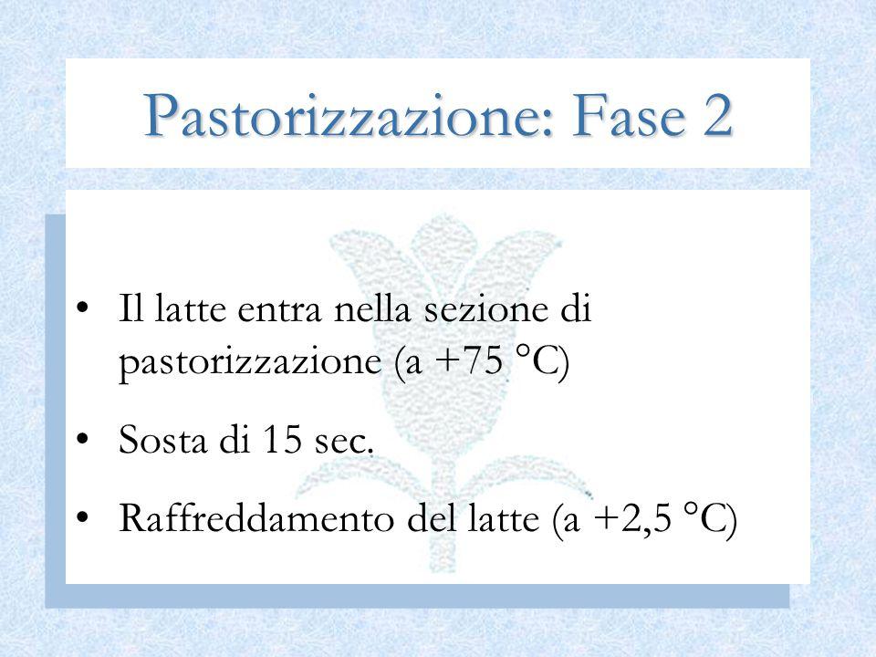 Pastorizzazione: Fase 2