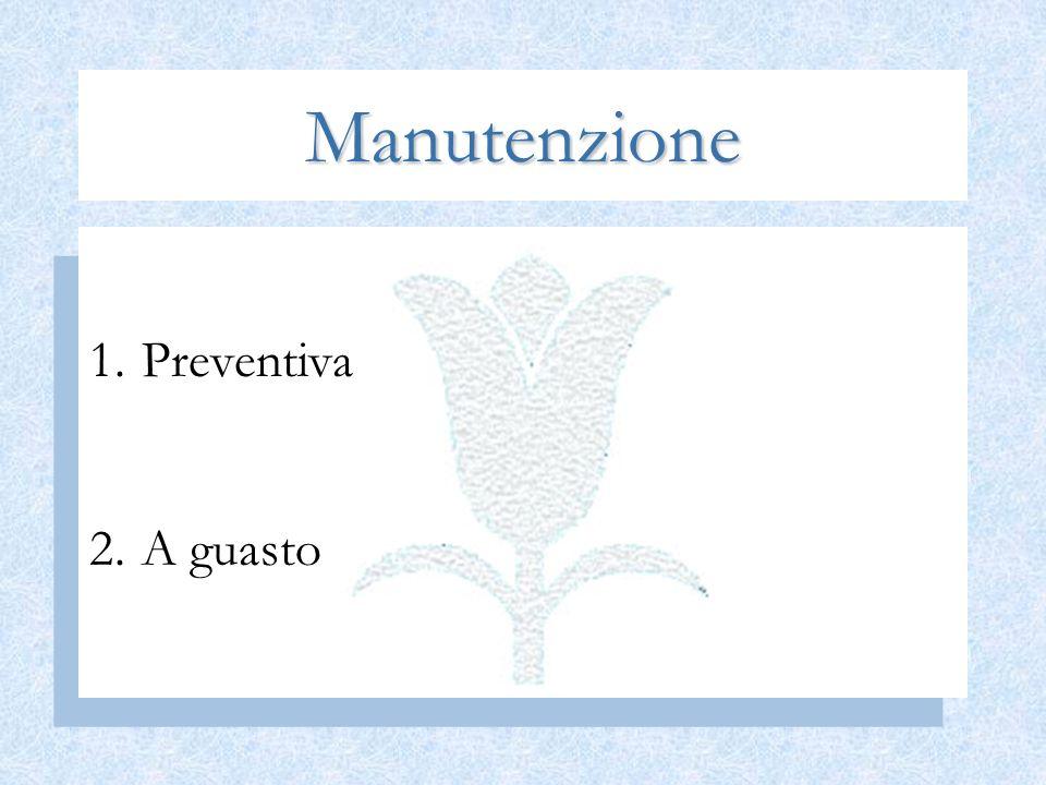 Manutenzione Preventiva A guasto