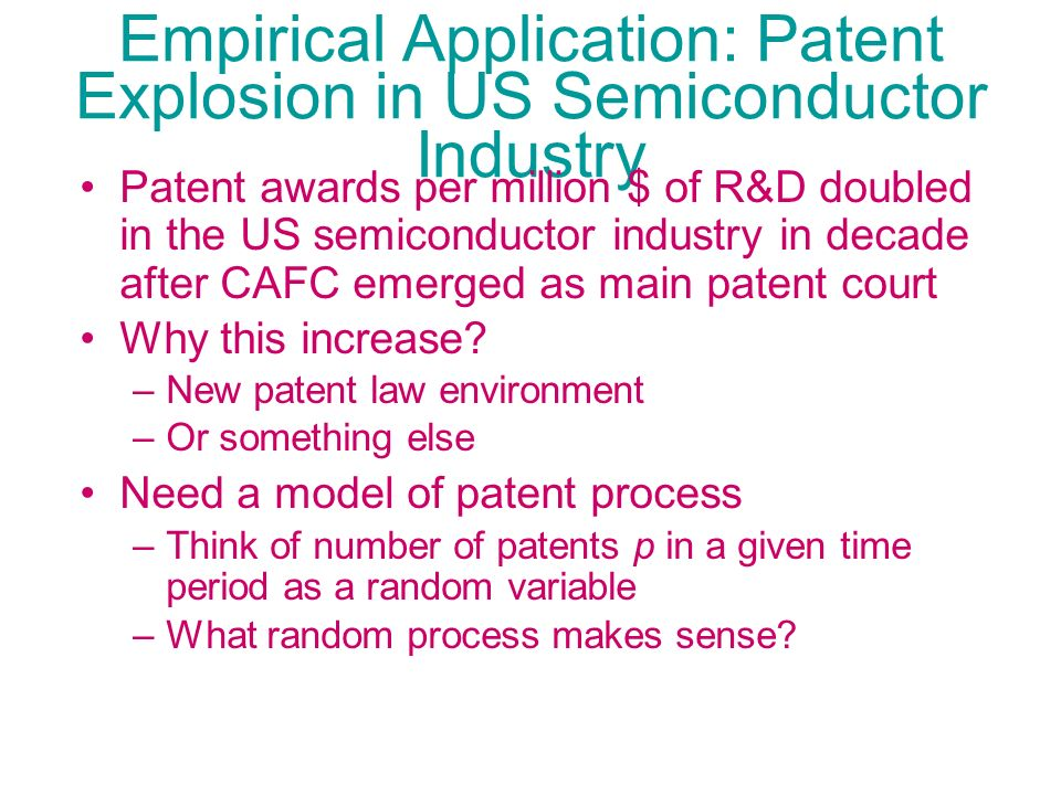 Empirical Application: Patent Explosion in US Semiconductor Industry