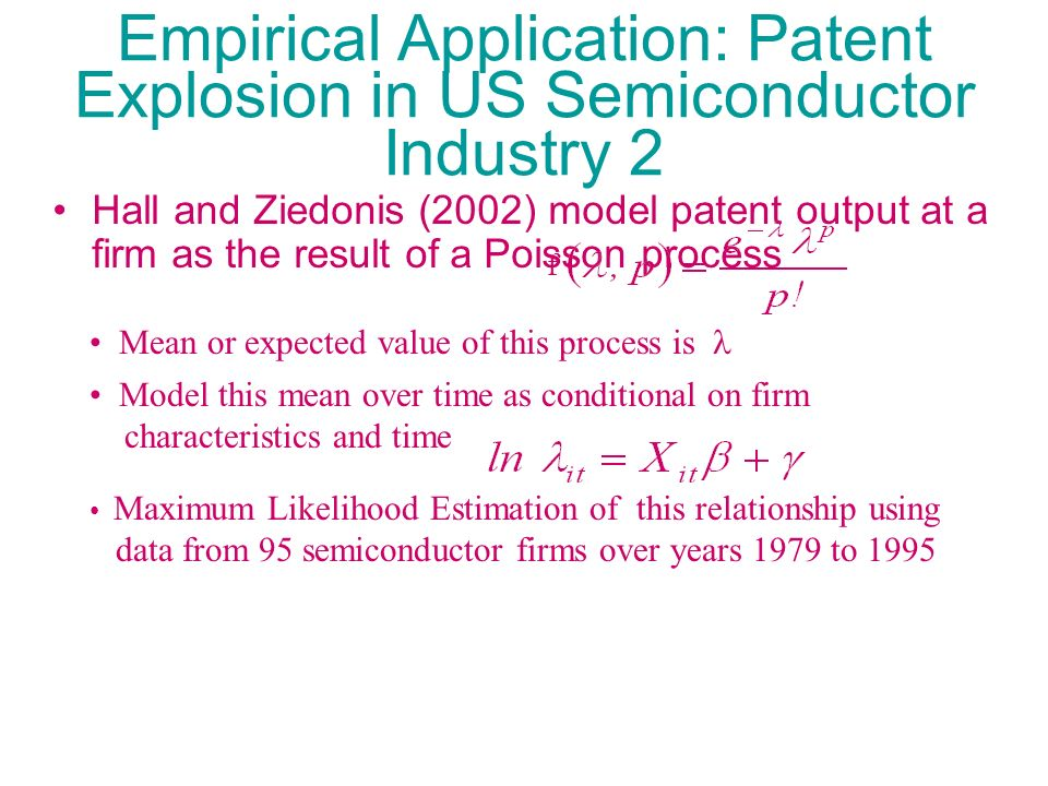 Empirical Application: Patent Explosion in US Semiconductor Industry 2