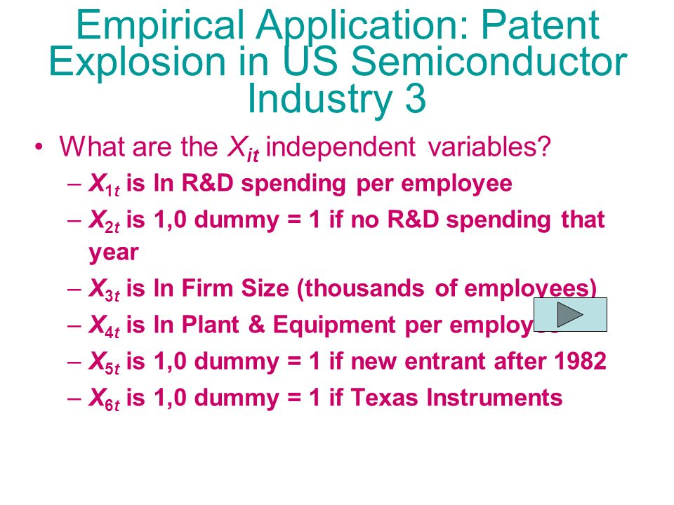 Empirical Application: Patent Explosion in US Semiconductor Industry 3