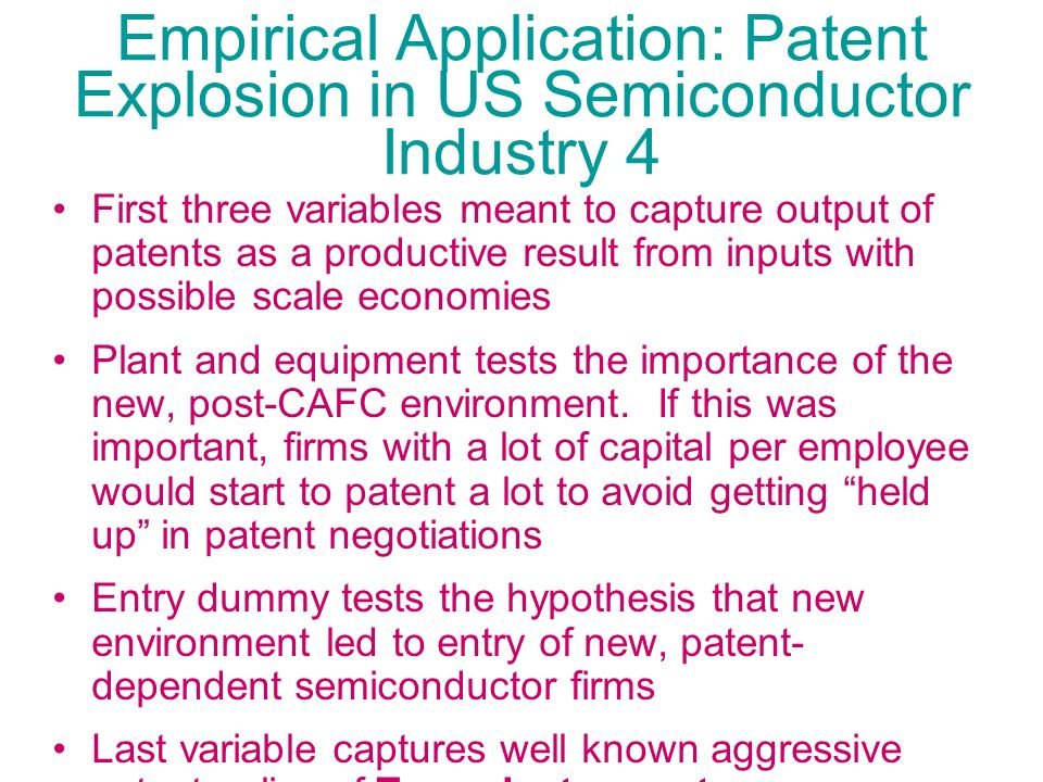 Empirical Application: Patent Explosion in US Semiconductor Industry 4